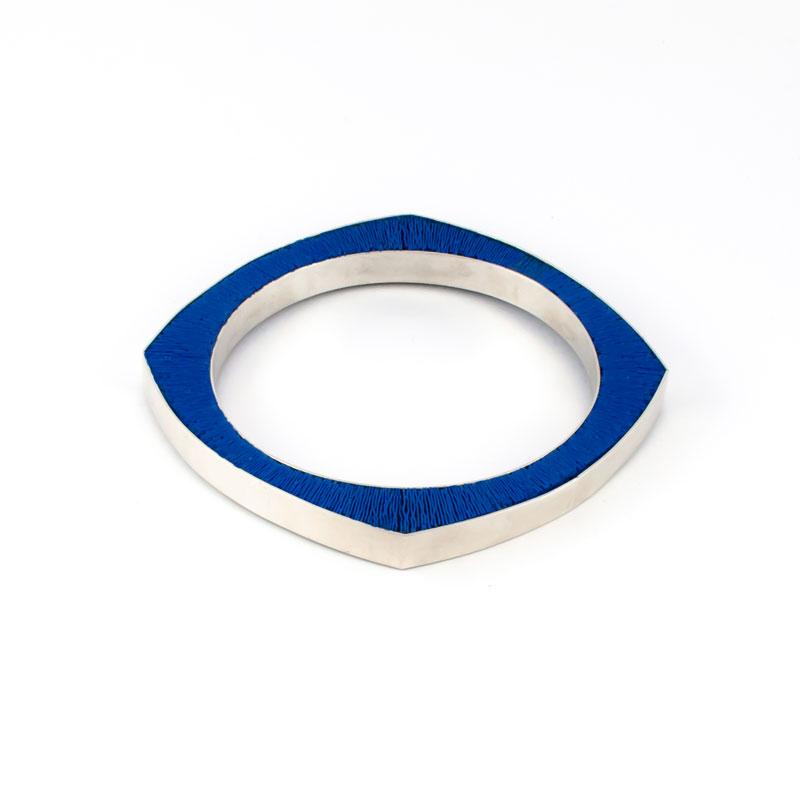 SporenIII-Armband-zilver-blauw