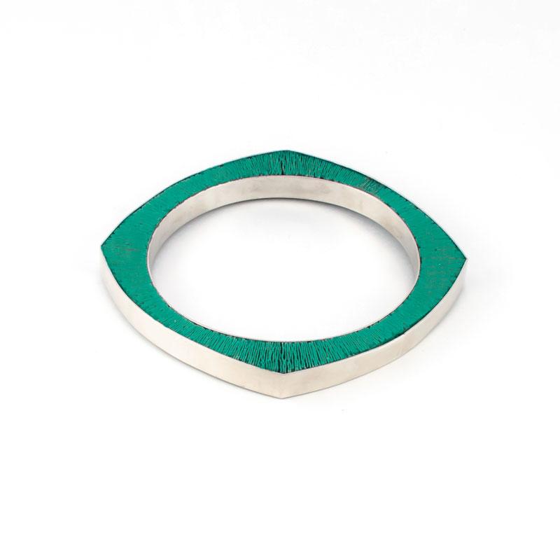 SporenIII-Armband-zilver-groen