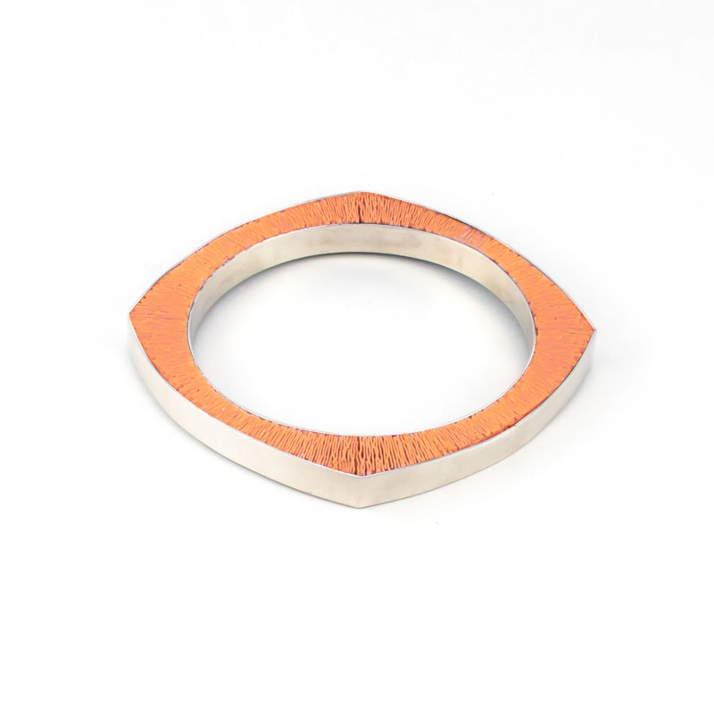 SporenIII-Armband-zilver-paars-roos