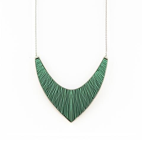 Ketting-Large-zilver-groen