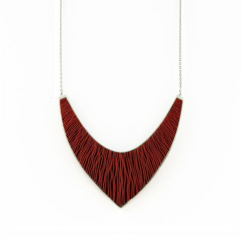 Ketting-Large-zilver-rood
