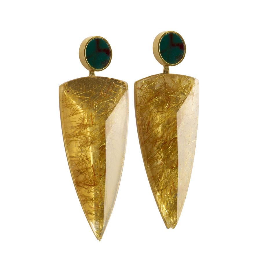 PrimaMateria-earring-trigon-emperor'sgold-humid