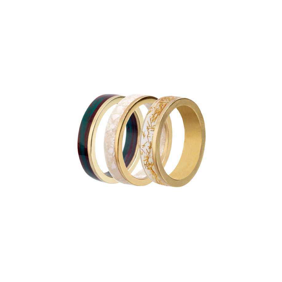 PrimaMateria-ring-stack-gold-emperor'sgold-humid-silverstone