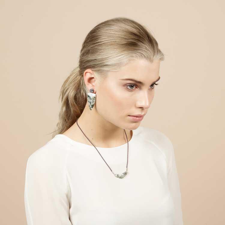 PrimaMateria-trigon-earring-granito