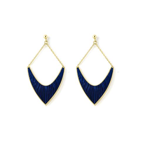 Sporen-oorhangers-v-verguld-blauw