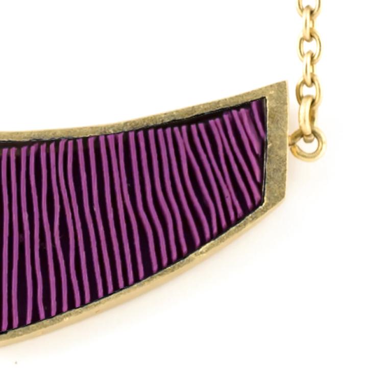 ketting-mini-verguld-paars-detail