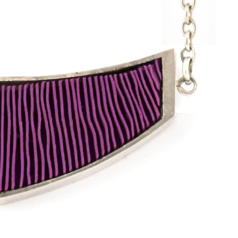 ketting-mini-zilver-paars-detail