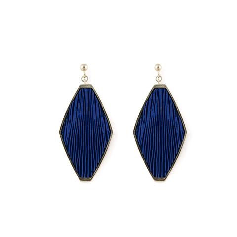 oorhanger-ruit-zilver-blauw