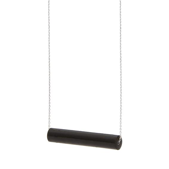 necklace staaf-blakishblue-zilver