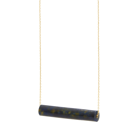 necklace staaf-blakishyellow-geel