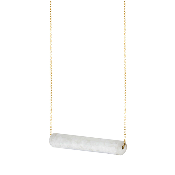 necklace staaf-whitesque-geel