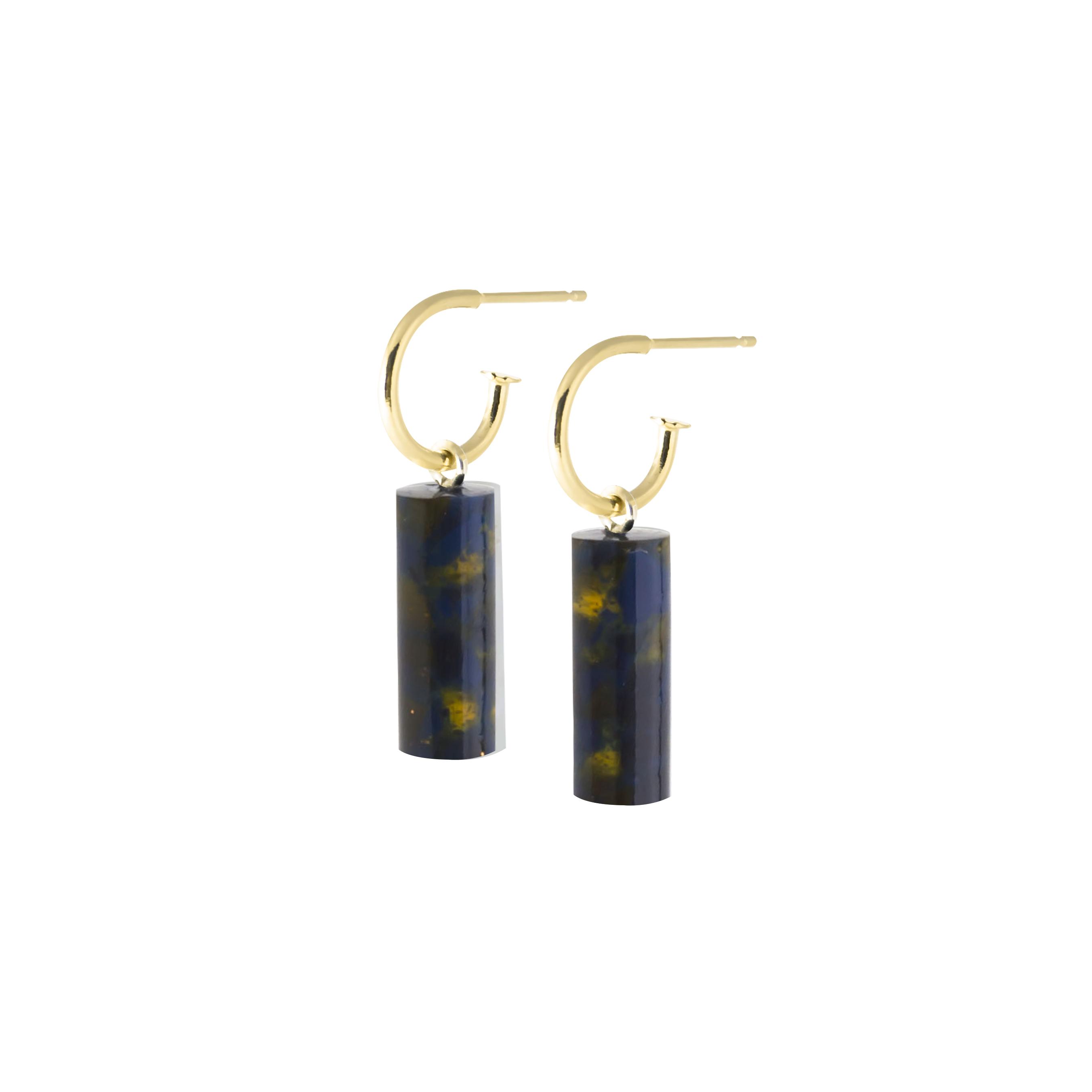 oorbel staaf kort-blackishyellow-geel