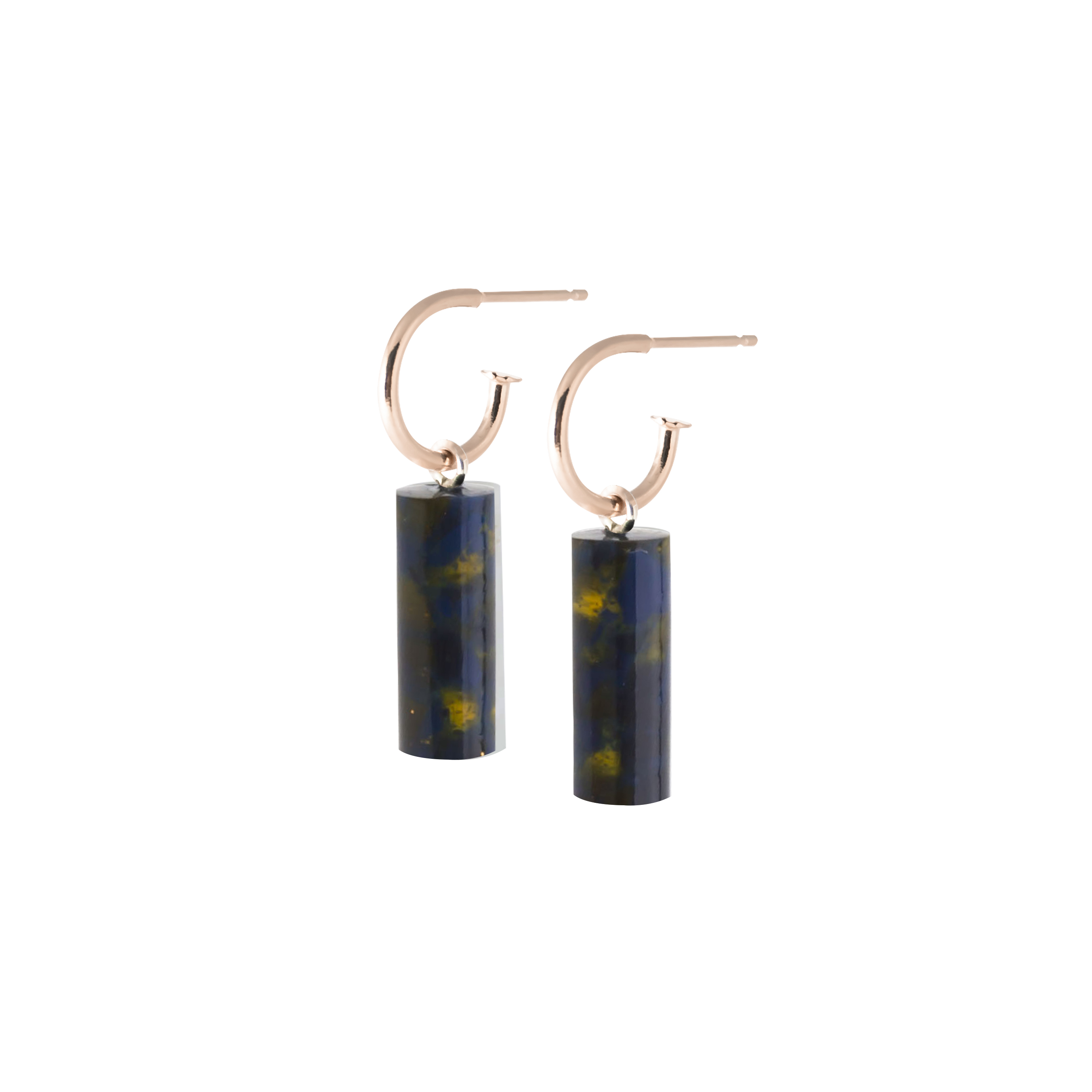 oorbel staaf kort-blackishyellow-roos