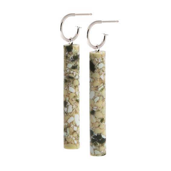 oorbel staaf lang-greenmable-zilver