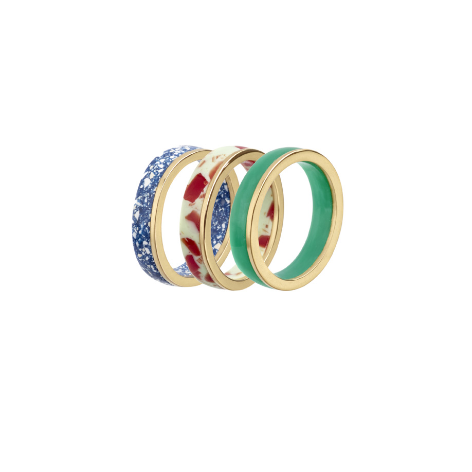 PrimaMateria-ring-stack-gold-delftblue-redolive-eden