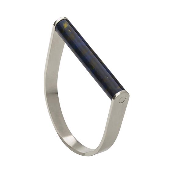 Armbandstaaf-blackishyellow-zilver