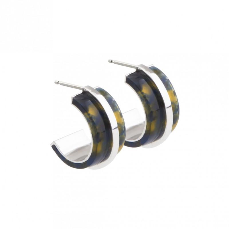 oorbel-blackishyellow-zilver