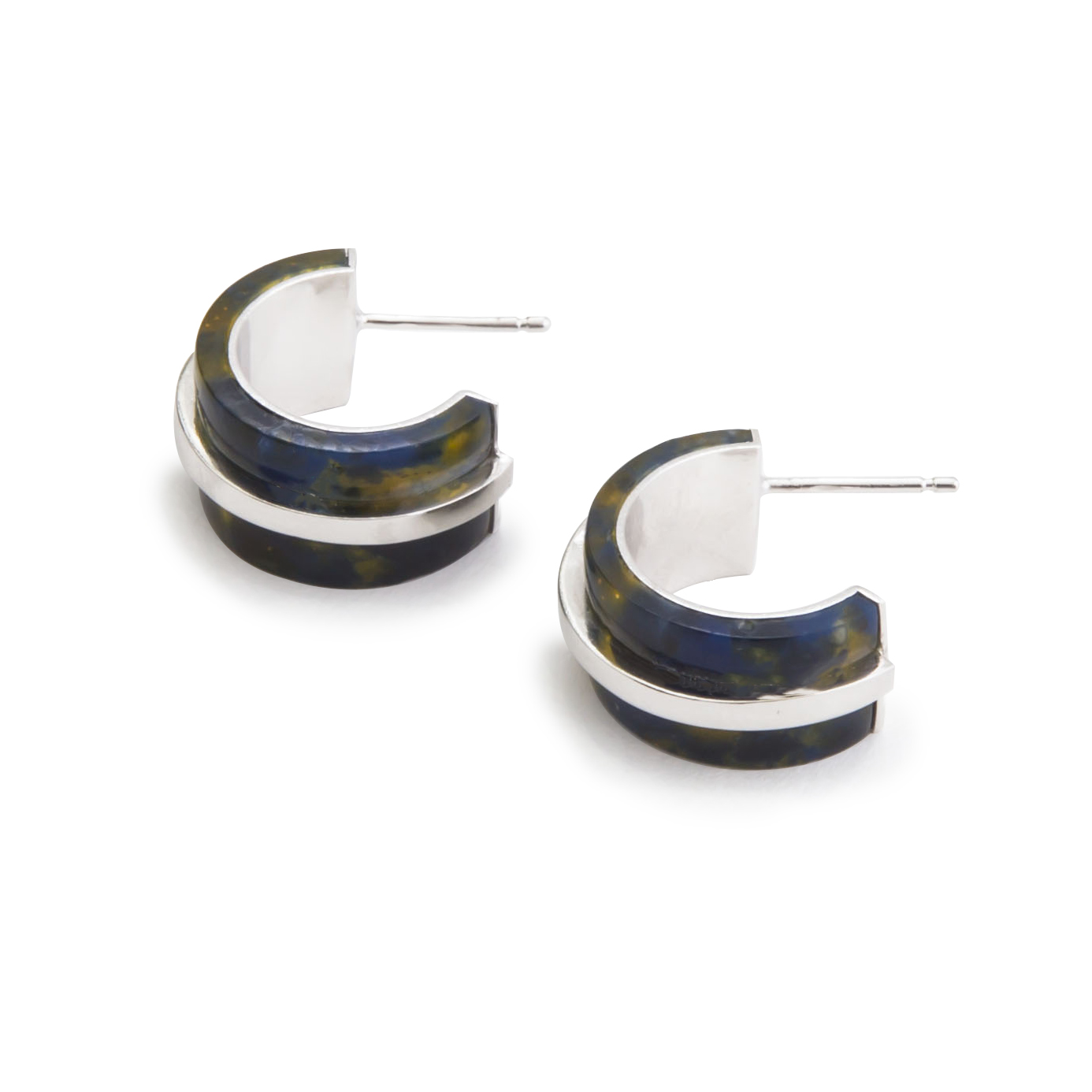 oorbel-blackishyellow-zilver-liggend