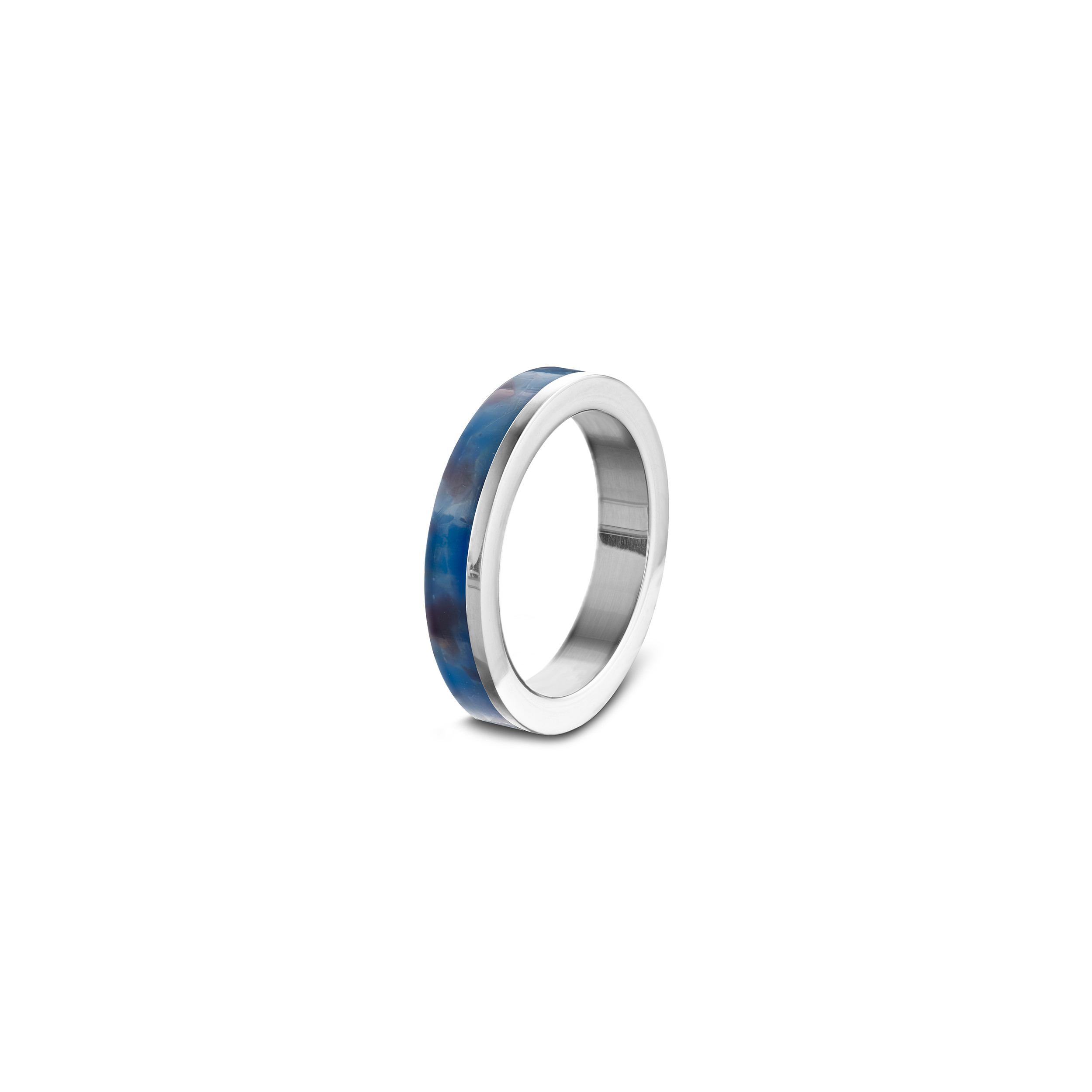 Stackring_electric-blue_zilver